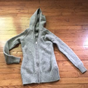 Grey Armani exchange wool blend sweater
